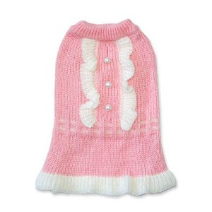 Gossip Gal Pink Dog Sweater Dress