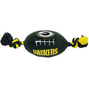 Green Bay Packers Plush Football Dog Toy
