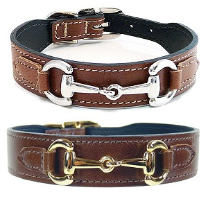 Gucci Poochie Italian Leather Dog Collar - Rich Brown