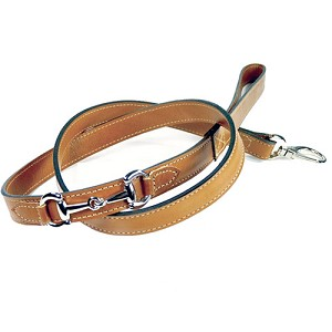 Gucci Poochie Italian Leather Dog Leash - Buckskin Brown