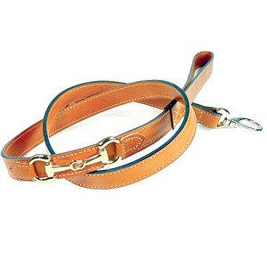 Gucci Poochie Italian Leather Dog Leash - Tangerine
