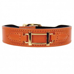 Hermes Hound Leather Dog Collar- 9 Colors