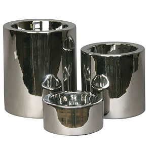 High Rise Dog Bowls - Shiny Nickel