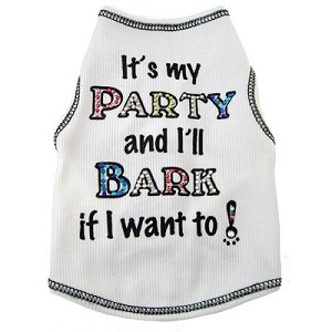 """It's My Party..."" Colorful Crystal Dog Shirt"