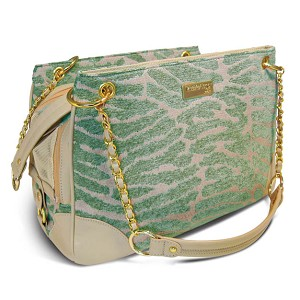 Shacara Zebra Dog Carrier - Seafoam
