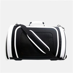 Kelle Dog Carrier by Petote- White and Black