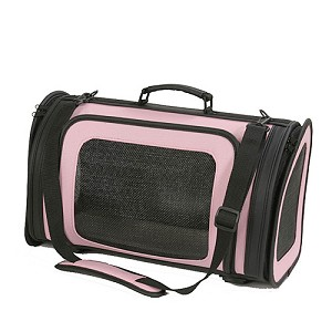 Kelle Dog Carrier by PETote - Baby Pink and Black