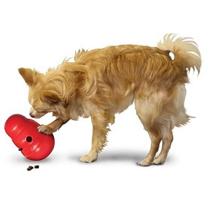 Kong Wobbler Dog Toy Food Dispenser