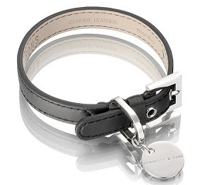Lorica Leather Waterproof Sailor Dog Collar - Black