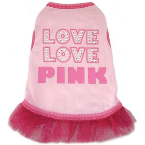 Love Love Pink Dog Tutu Dress