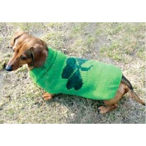 Lucky Shamrock Dog Sweater