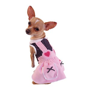 Lydia Pink Overall Dog Dress