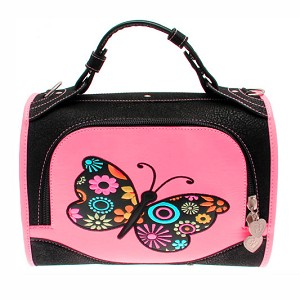 Madame Butterfly Pink Dog Carrier