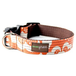 Marigold Laminated Cotton Dog Collar