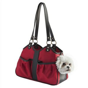 Metro Classic Dog Carrier by PETote - Red