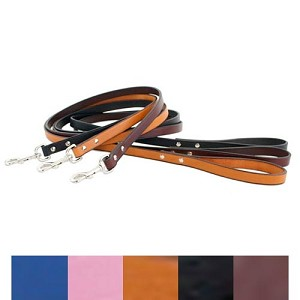 Metro Leather Dog Leash - Five Colors