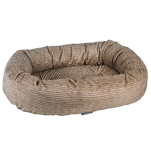 Microcord Donut Dog Bed- Wheat