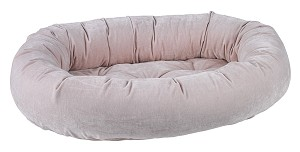Microvelvet Donut Dog Bed- Blush