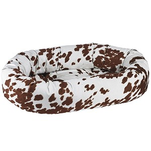 Microvelvet Donut Dog Bed- Durango