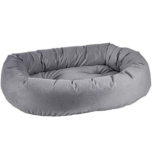 Microvelvet Donut Dog Bed- Shadow