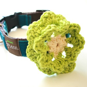 Collar Flower by Mimi Green - Lemon Lime