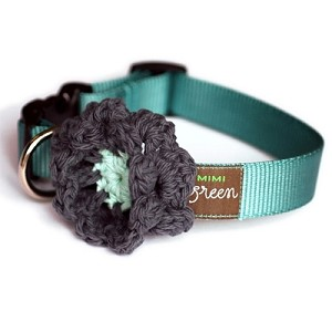 Crochet Flower Dog Collar - Licorice