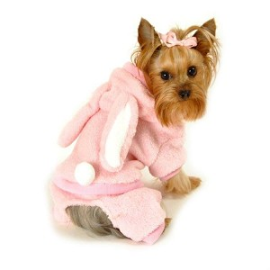 Plush Bunny Dog Jumper - Pink