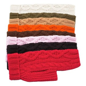 Nantucket Cable Knit Dog Sweater - Eight Colors