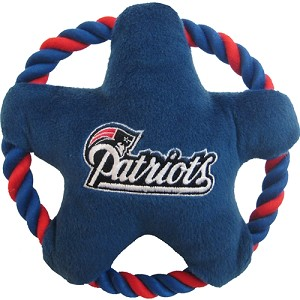 New England Patriots Rope Star Dog Toy