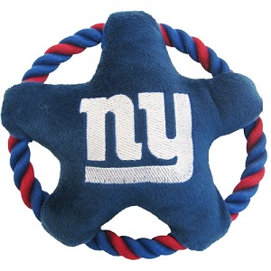 New York Giants Rope Star Dog Toy