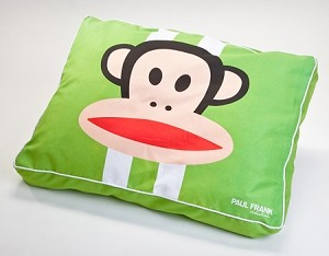 Green Julius Racing Stripes Dog Bed by Paul Frank