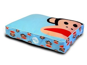 Blue Julius Signature Monkey Dog Bed by Paul Frank