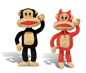 Naughty or Nice Julius Monkey Dog Toy by Paul Frank