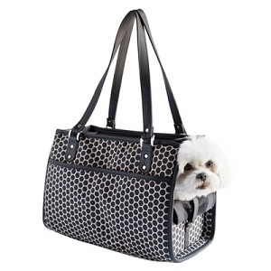 Payton Dog Carrier by PETote - Reverse Noir Dots