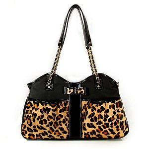 Petote Metro Dog Carrier- Leopard Couture