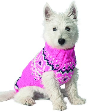 Pink Nordic Sweater by Chilly Dog