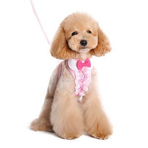 Pink Ruffle Dog Harness