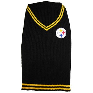 d7c3443c2 Pittsburgh Steelers Dog Sweater- Offically Licensed NFL Pet Clothes at  Glamourmutt.com
