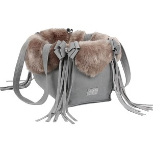 Platinum Silver Fox Nouveau Bow Dog Carrier