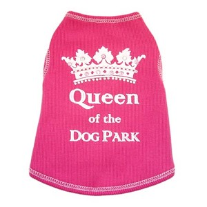 Queen of the Dog Park Pink Dog Shirt