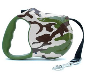 Rambo Camo Retractable Dog Leash