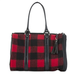 Red Buffalo Plaid Duffel Dog Carrier