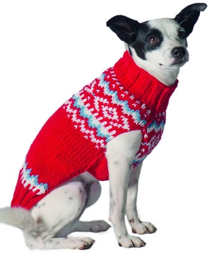 Red Nordic Sweater by Chilly Dog