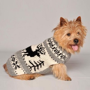 Reindeer Shawl Dog Sweater by Chilly Dog