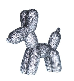 Rhinestone Balloon Dog Sculpture
