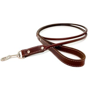 Classic Rolled Leather Dog Leash - Eight Colors