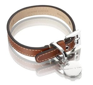 Royal Leather Dog Collar - Red Brown