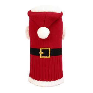 Santa Clause Dog Sweater Hoodie