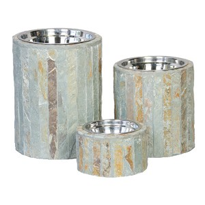 Seafoam Slate Single Dog Feeder