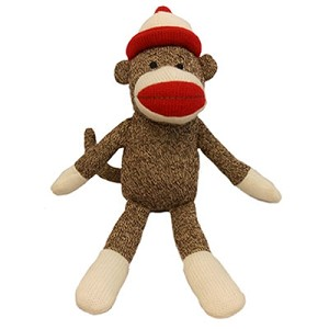 Classic Sock-Monkey Dog Toy